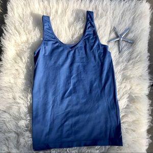 Ellen Tracy Essentials tank camisole blue large